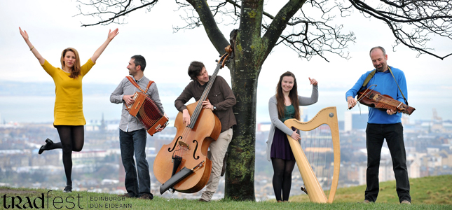 LtoR: Sophie Stephenson, Davide Panzeri, Alistair Cole, Eilidh Munro and Gavin Pennycook on Calton Hill